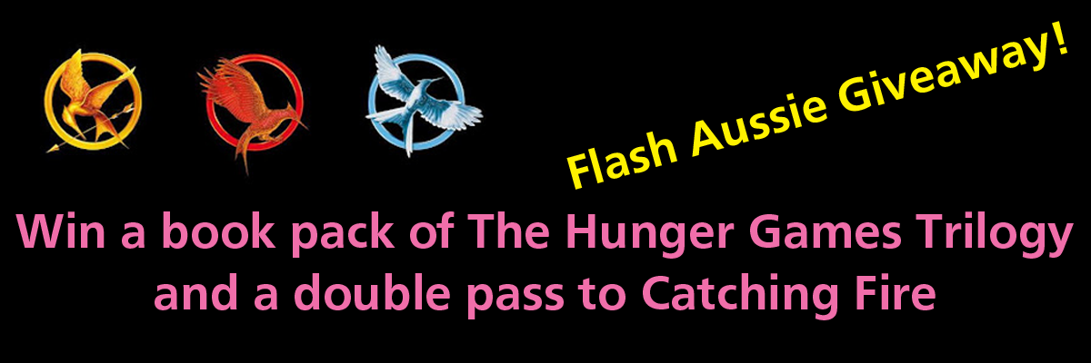 The Hunger Games trilogy and double pass to Catching Fire